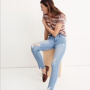 NWT Madewell 9 In High-Rise Skinny Distressed Jean